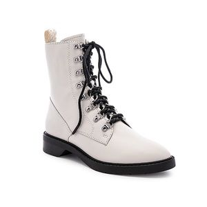 DOLCE VITA GILMAN LACE UP LEATHER COMBAT BOOT